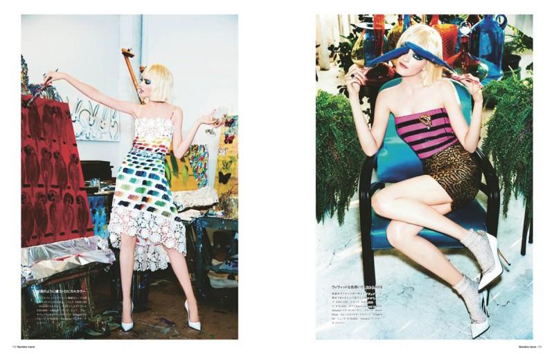 vlada numero tokyo3 800x512 Vlada Roslyakova Gets Colorful in Numéro Tokyo Shoot by Ellen von Unwerth