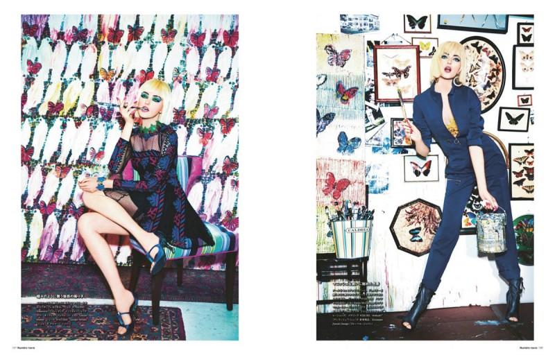 vlada numero tokyo4 800x512 Vlada Roslyakova Gets Colorful in Numéro Tokyo Shoot by Ellen von Unwerth