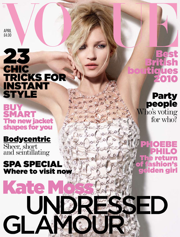 Kate Moss on Vogue UK April 2010 Cover / Image: Vogue.co.uk