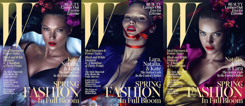 w magazine march 2013 cover Week in Review | Gisele in Swim, MACs New Line, Models on Covers + More