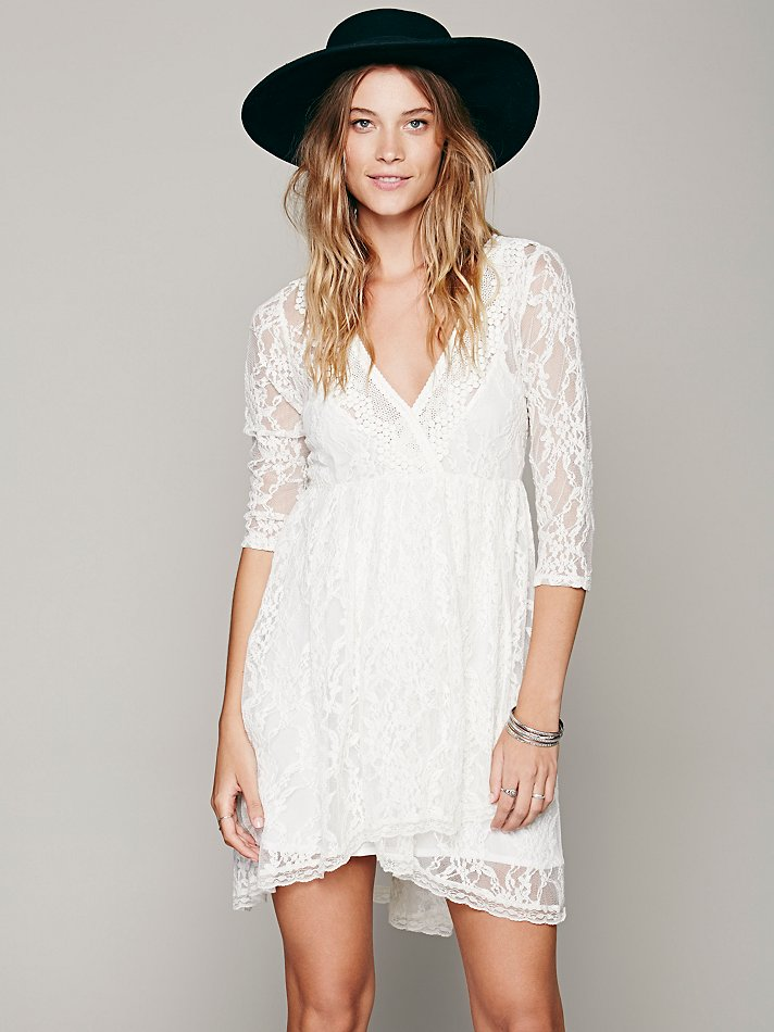 white lace dress 5 Spring Dresses to Get Right Now