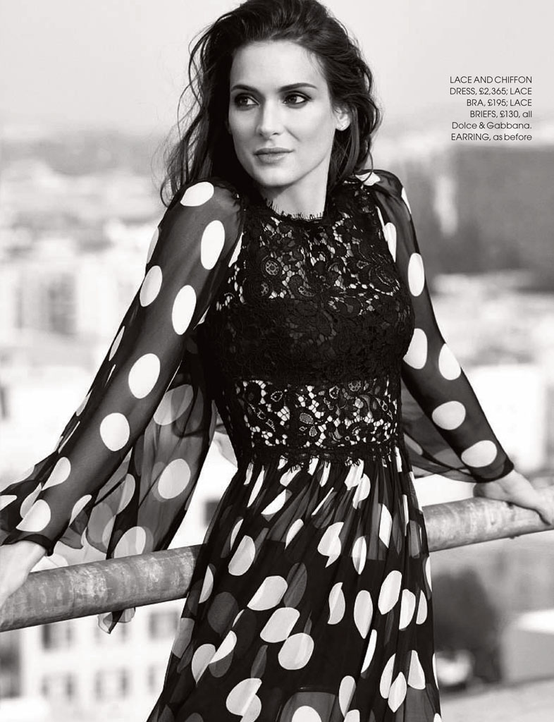 winona ryder red shoot2 Winona Ryder Charms for Red Magazine Feature by Max Abadian