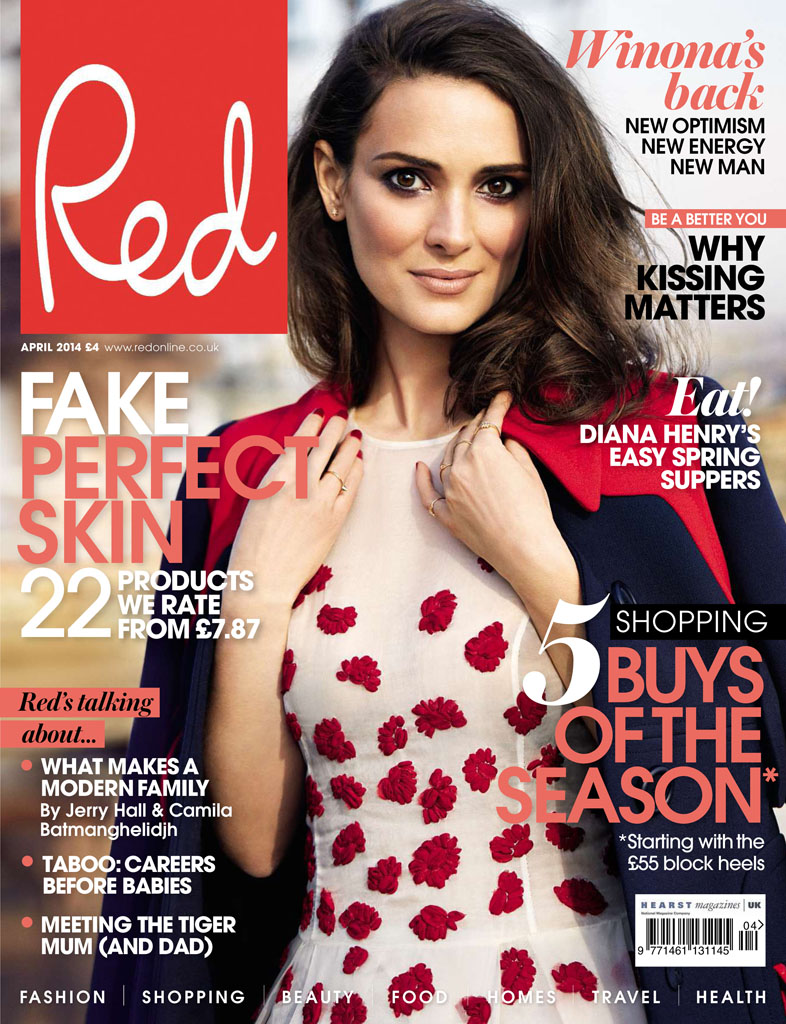 winona ryder red shoot5 Winona Ryder Charms for Red Magazine Feature by Max Abadian