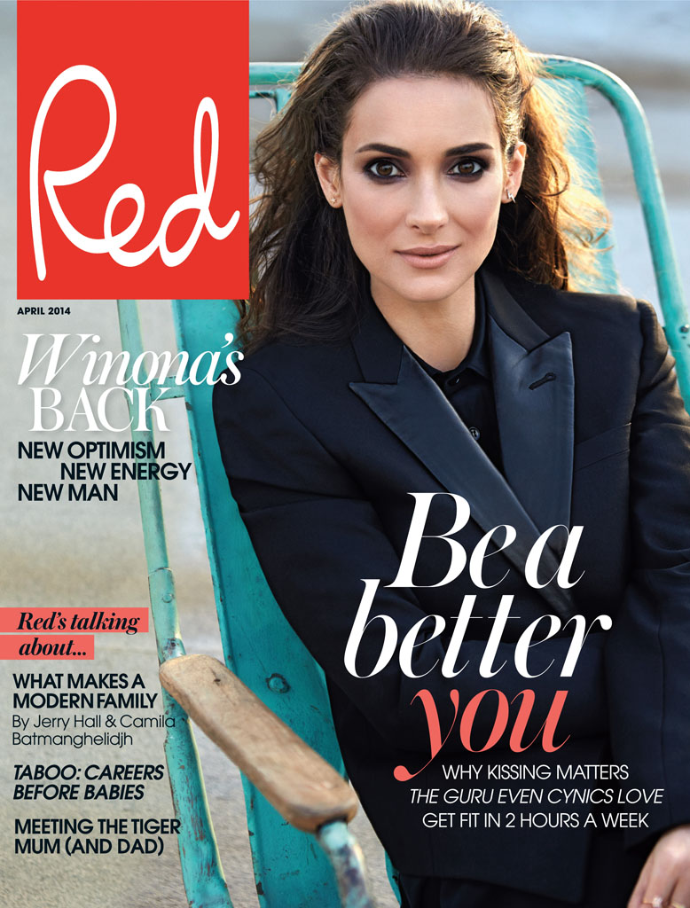 Winona Ryder Charms For Red Magazine Feature By Max