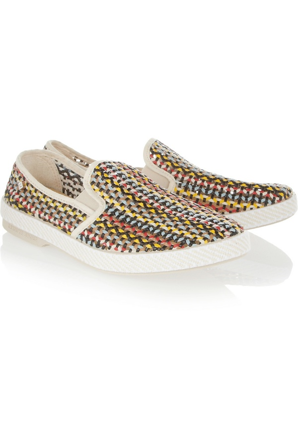 woven slip on sneakers Sneaker Time: 5 Womens Sneaker Styles for Spring