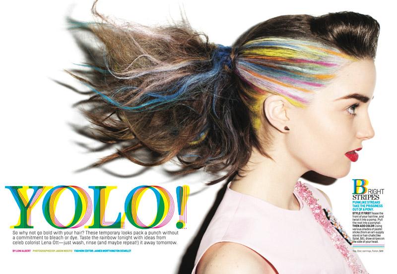yolo hair1 YOLO Hair: Ali & Victoria in Daring Dos for Cosmopolitan