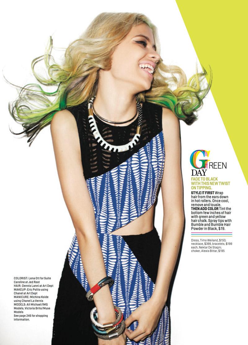 yolo hair5 YOLO Hair: Ali & Victoria in Daring Dos for Cosmopolitan