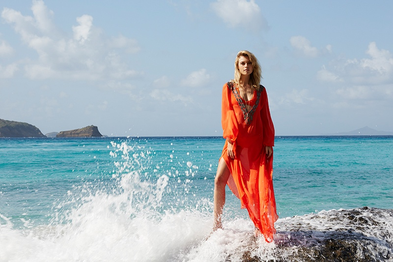 Amanda Wakeley Summer 20141 Farah Holt is Beach Ready in Amanda Wakeley Summer 2014 by Kate Martin