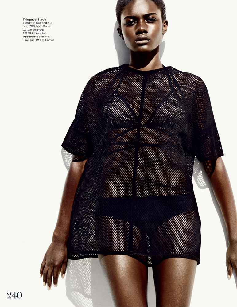 Zuri Tibby3 Zuri Tibby Dons Bold Swimwear Looks for ELLE UK by Marcus Ohlsson
