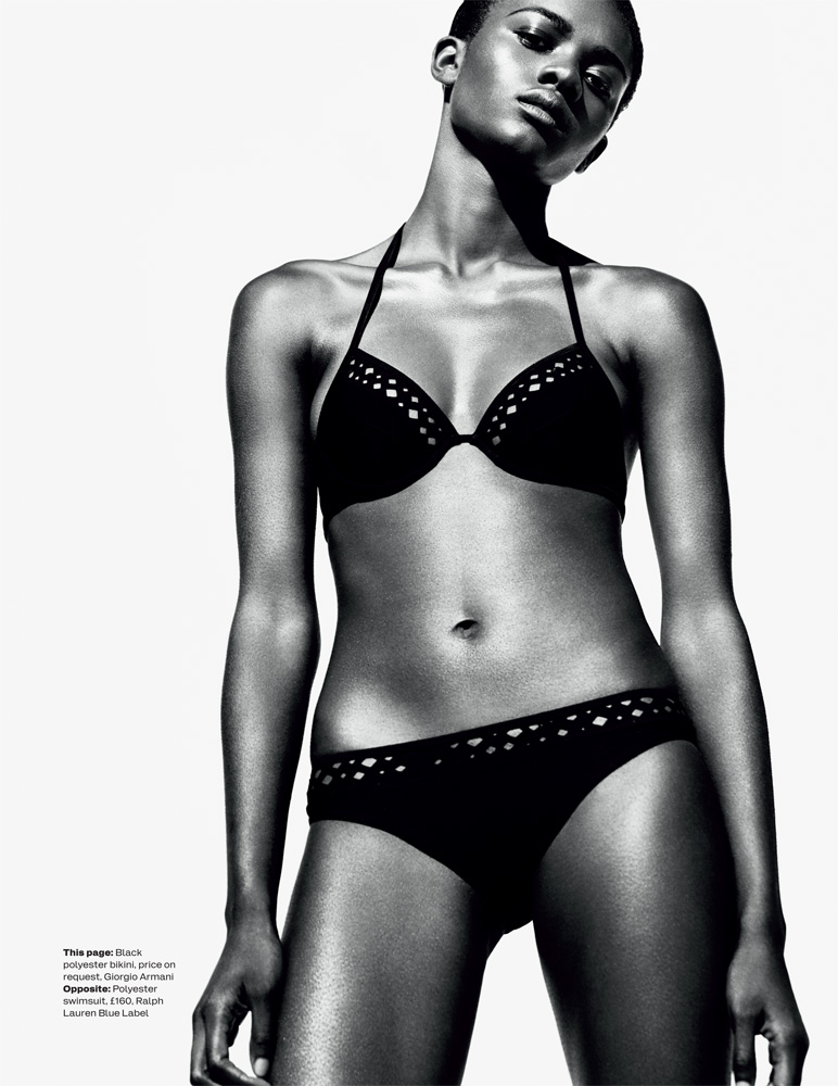 Zuri Tibby6 Zuri Tibby Dons Bold Swimwear Looks for ELLE UK by Marcus Ohlsson