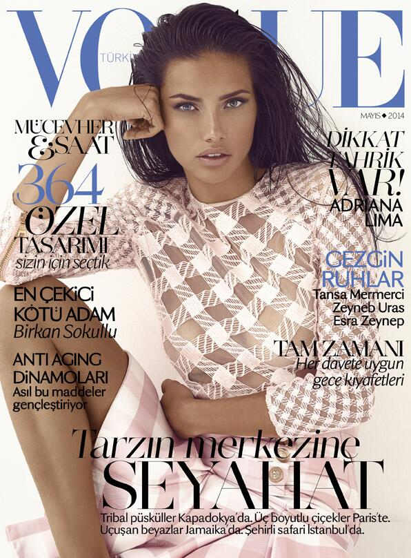 adriana lima vogue turkey cover Adriana Lima Wears Balmain on Vogue Turkey May 2014 Cover