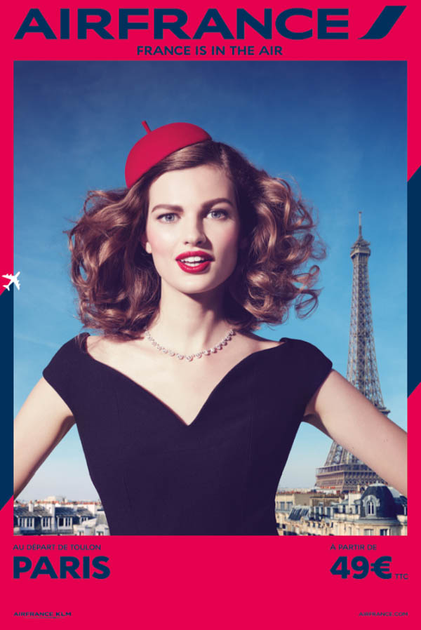 air france travel 2014 campaign4 Week in Review | Barbara Sizzles, Air France Style, Bregje in LA + More
