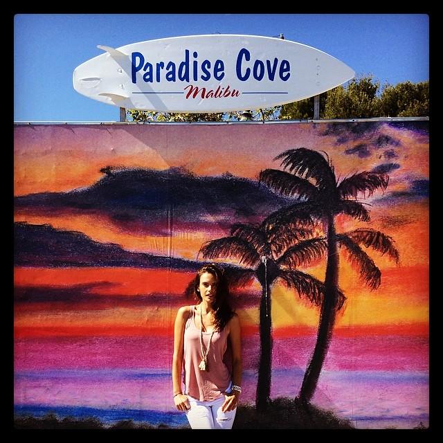 Alessandra Ambrosio gets colorful in Malibu