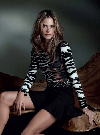 Wild Child: Alessandra Ambrosio is Glam in Bobstore Fall 2014 Campaign