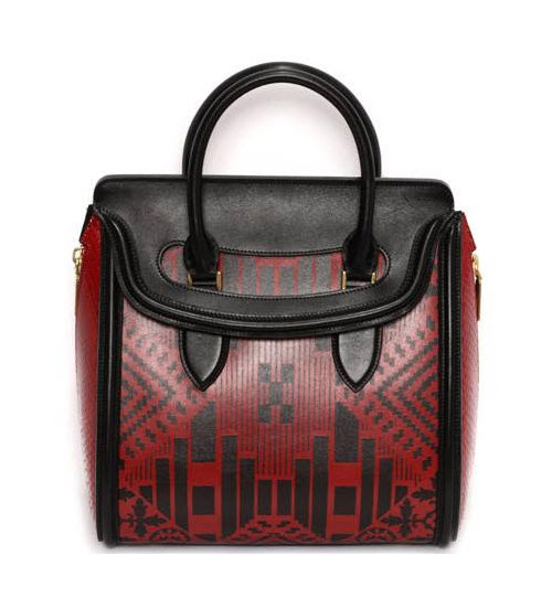 alexander mcqueen heroine bag red patchwork spring 2014 Closer Look: Alexander McQueen Spring/Summer 2014 Heroine Bag