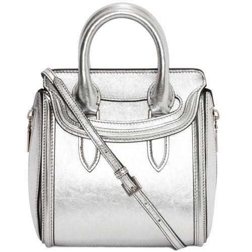 alexander mcqueen mini silver heroine spring 2014 bag Closer Look: Alexander McQueen Spring/Summer 2014 Heroine Bag