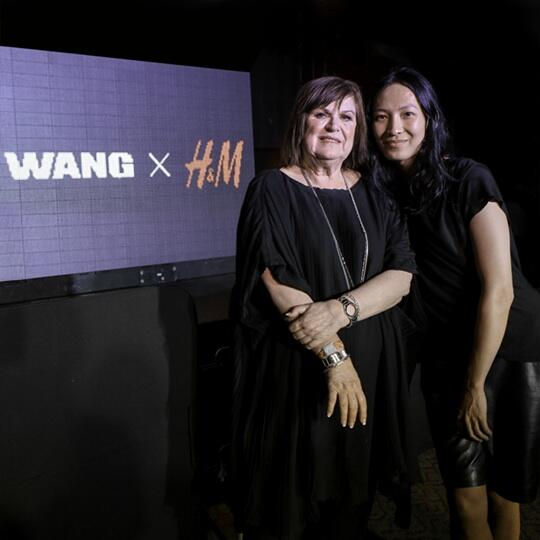 Image: Alexander Wang and Margareta van den Bosch at H&M event announcing the collaboration