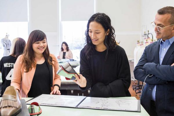Photo: Alexander Wang with SCAD student