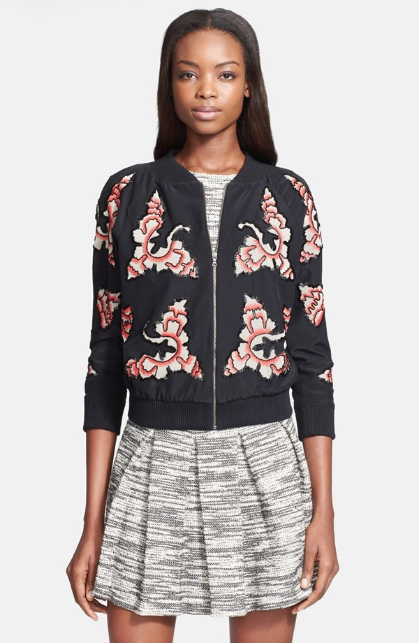 alice olivia beaded bomber 5 Spring Bomber Jackets to Wear Now