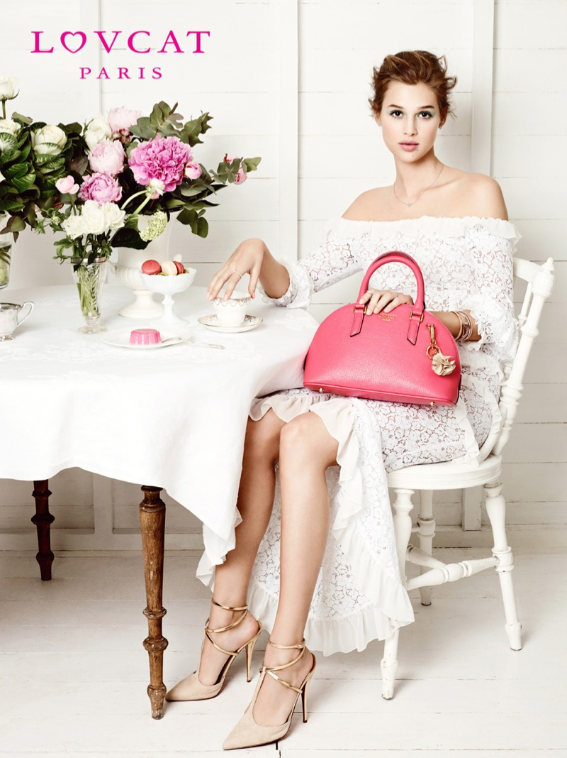 anais pouliot lovcat spring 2014 campaign3 Hey Pretty! Anais Pouliot Stars in Lovcat Paris' Spring 2014 Campaign