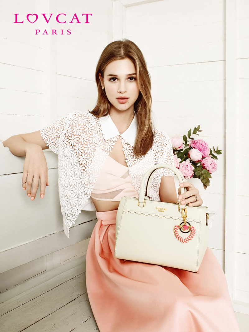 anais pouliot lovcat spring 2014 campaign4 Hey Pretty! Anais Pouliot Stars in Lovcat Paris' Spring 2014 Campaign
