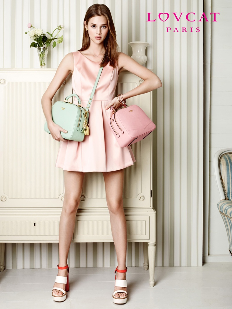 anais pouliot lovcat spring 2014 campaign5 Hey Pretty! Anais Pouliot Stars in Lovcat Paris' Spring 2014 Campaign