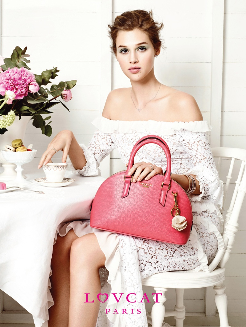 anais pouliot lovcat spring 2014 campaign6 Hey Pretty! Anais Pouliot Stars in Lovcat Paris' Spring 2014 Campaign