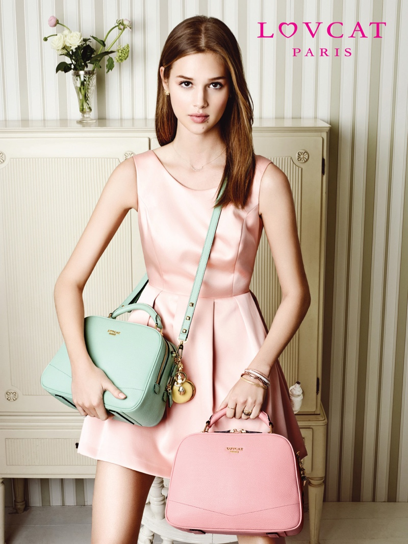 anais pouliot lovcat spring 2014 campaign8 Hey Pretty! Anais Pouliot Stars in Lovcat Paris' Spring 2014 Campaign