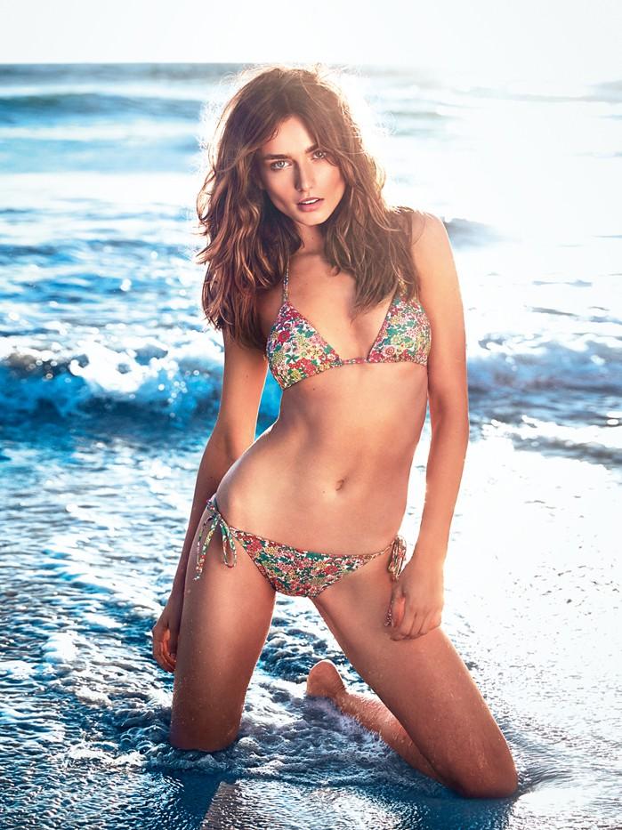 andreea diaconu etam spring 2014 1 Andreea Diaconu Models Bikinis for Etam Spring 2014 Campaign