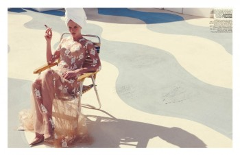 Anne V Poses in Neutrals for Marie Claire Italia Spread by Nagi Sakai