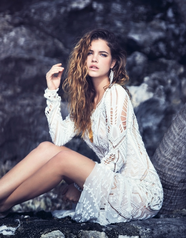 Barbara Palvin is a Beach Babe in Marie Claire Italia Shoot