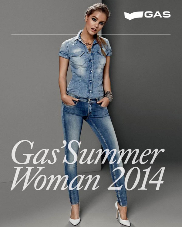 barbara palvin gas jeans ss 14 10 Barbara Palvin Rocks Denim for GAS Jeans Spring 14 Ads