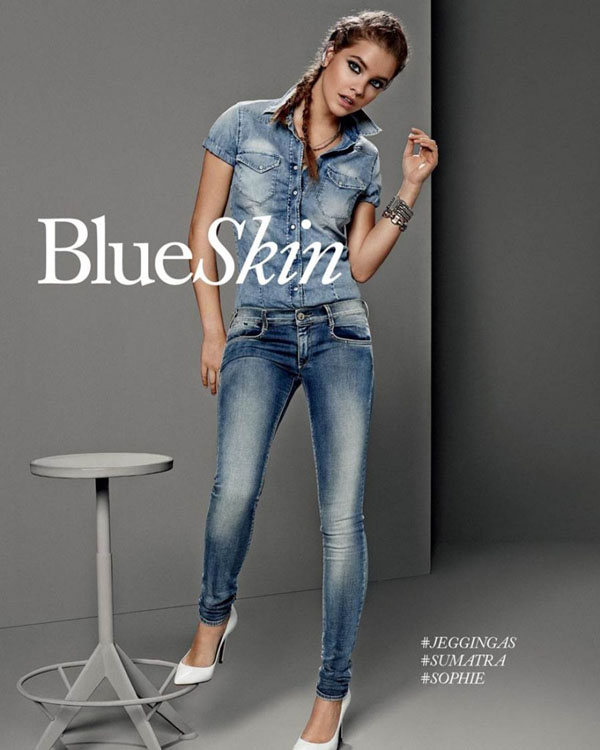 barbara palvin gas jeans ss 14 8 Barbara Palvin Rocks Denim for GAS Jeans Spring 14 Ads