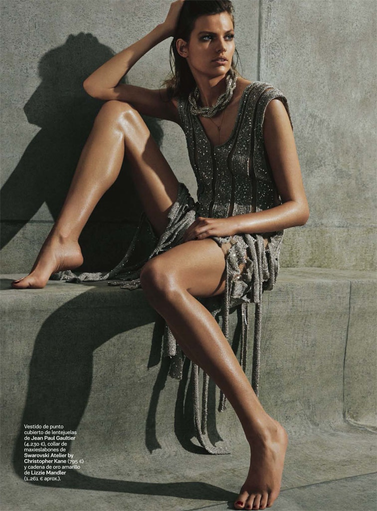 bette franke david roemer1 Bette Franke is a Metallic Goddess for S Moda Spread by David Roemer
