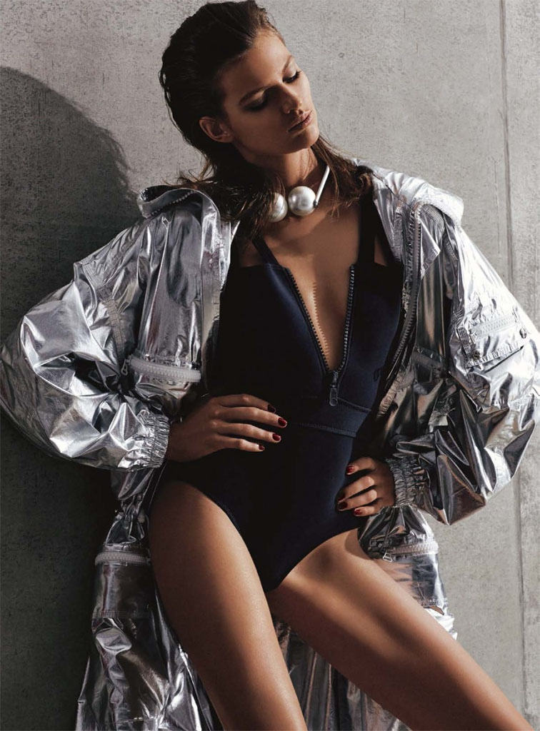 bette franke david roemer2 Bette Franke is a Metallic Goddess for S Moda Spread by David Roemer