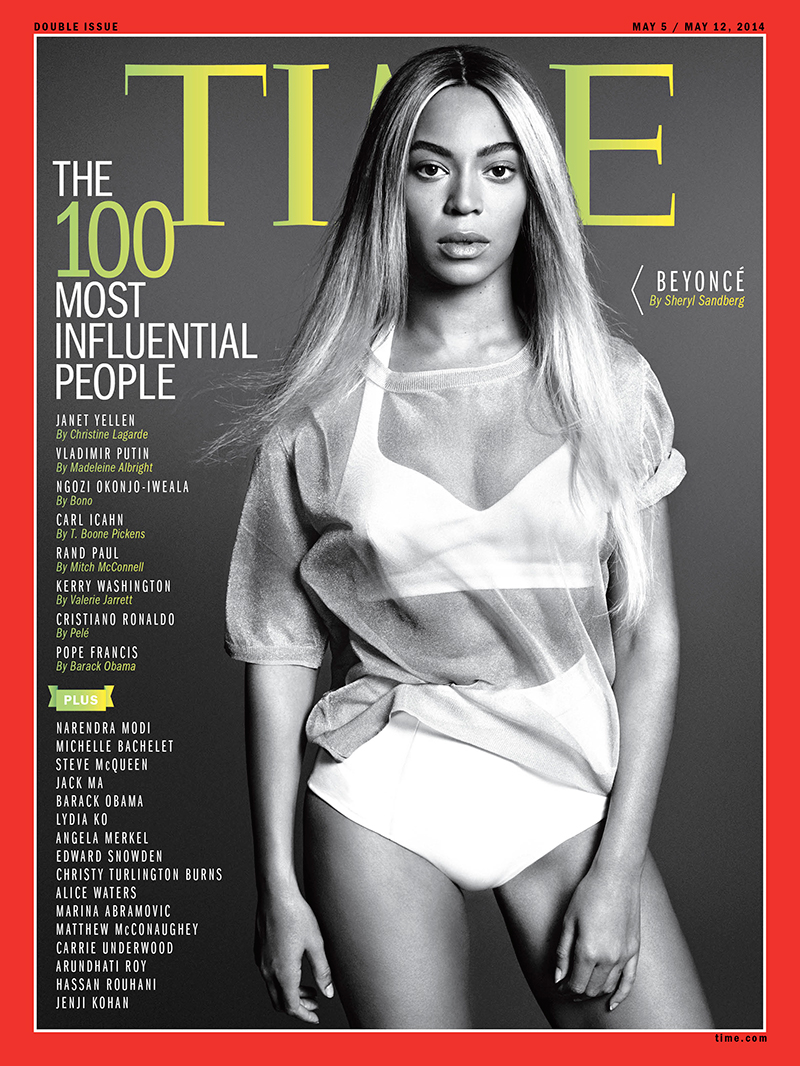 Beyonce on Time's 100 Most Influential People Cover
