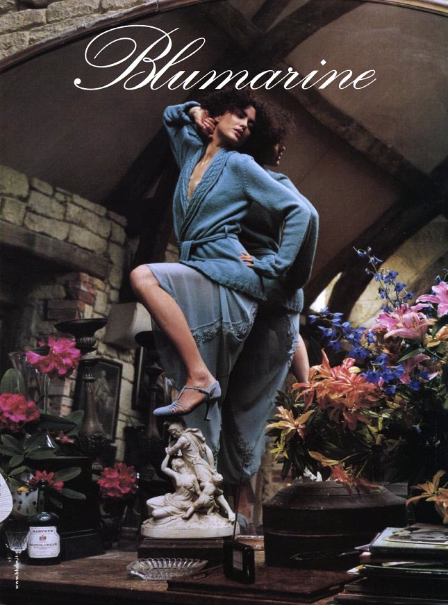 blumarine fall 2002 campaign shalom harlow3 TBT | Shalom Harlow Brings the Drama for Blumarines Fall 2002 Ads