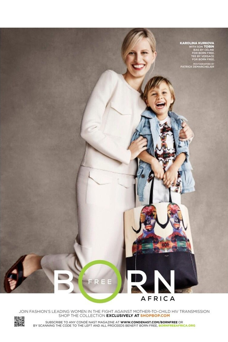 born free fashion models2 Doutzen, Sasha, Karolina & Their Children Pose for Born Free Africa Campaign