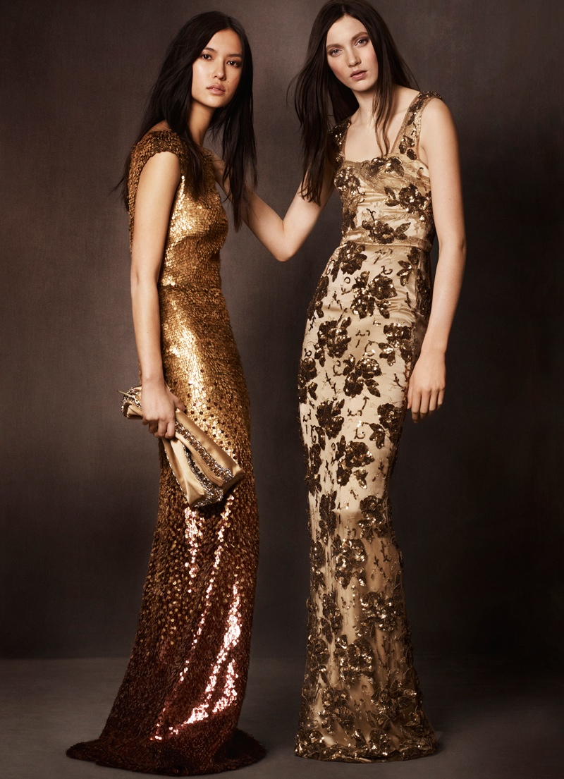 burberry shanghai capsule collection 2014 1 Burberry Goes for Gold with Exclusive Kerry Centre Collection