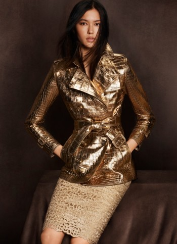 Burberry Goes for Gold with Exclusive Kerry Centre Collection