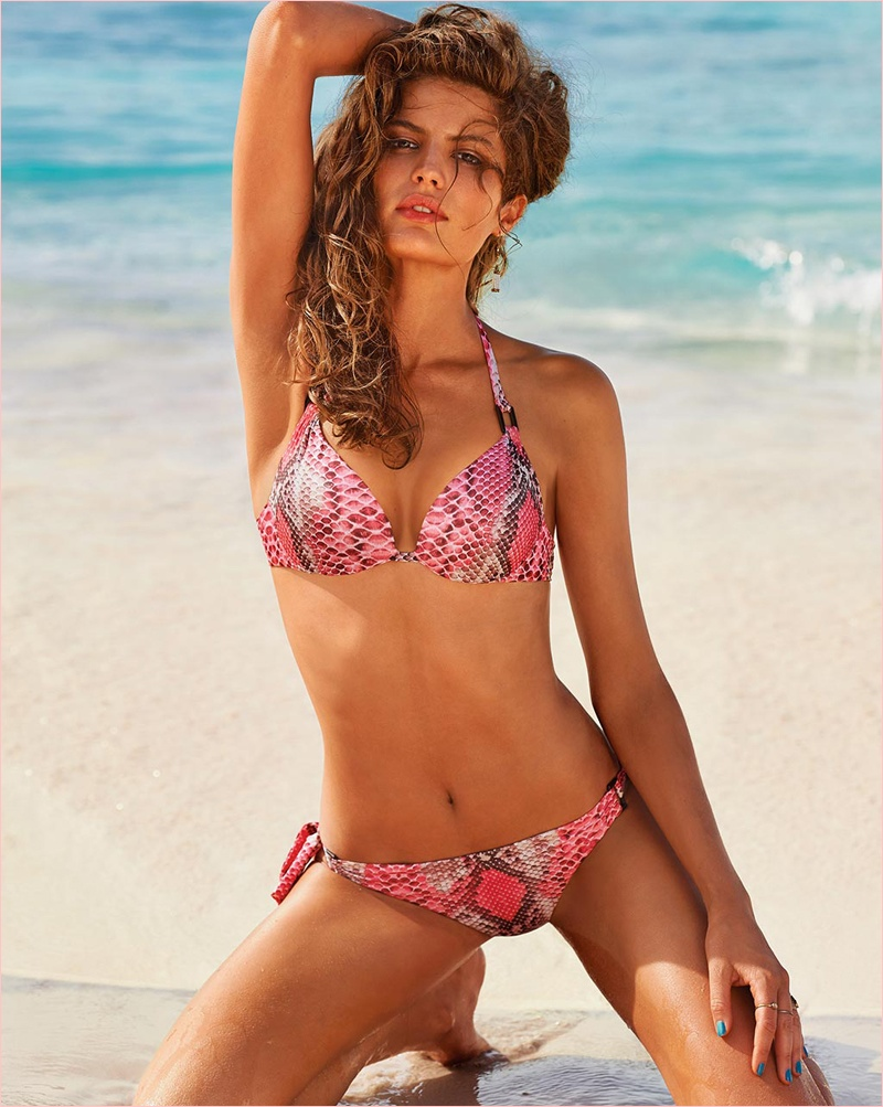 Golden Sun: Cameron Russell Models Calzedonia Bikinis in New Shoot