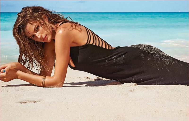 cameron russell bikini calzedonia 2014 7 Golden Sun: Cameron Russell Models Calzedonia Bikinis in New Shoot