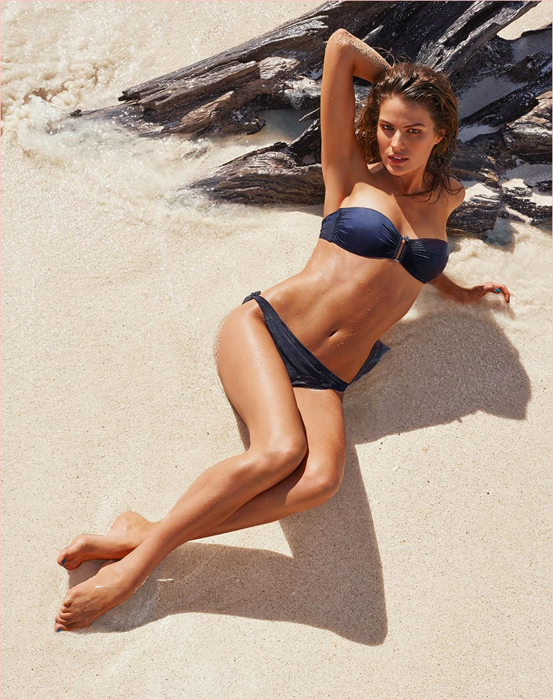 cameron russell bikini calzedonia 2014 8 Golden Sun: Cameron Russell Models Calzedonia Bikinis in New Shoot