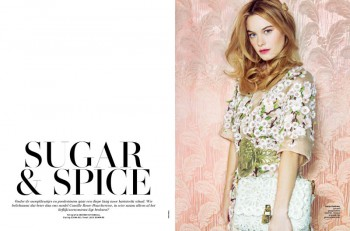 Sugar & Spice: Camille Rowe in L'Officiel Netherlands by Andrew Kuykendall