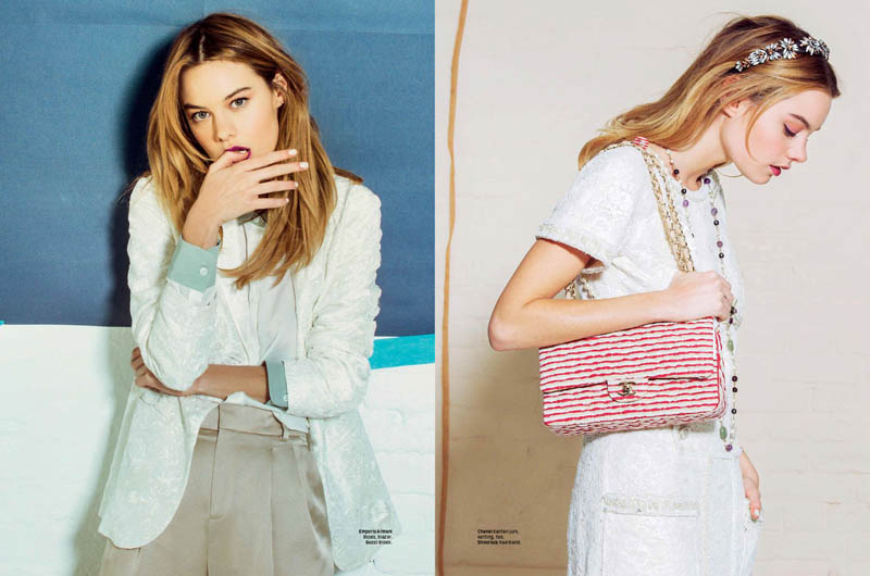 camille rowe 2014 4 Sugar & Spice: Camille Rowe in LOfficiel Netherlands by Andrew Kuykendall