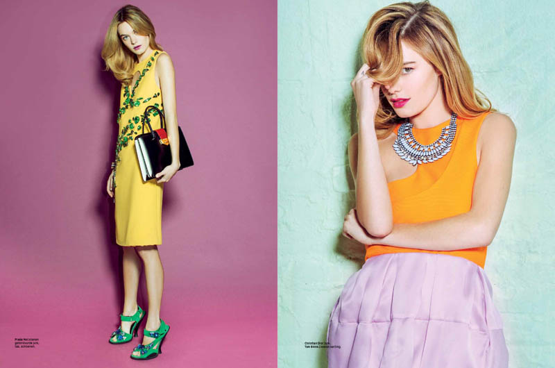 camille rowe 2014 5 Sugar & Spice: Camille Rowe in LOfficiel Netherlands by Andrew Kuykendall
