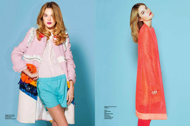 camille rowe 2014 6 Sugar & Spice: Camille Rowe in LOfficiel Netherlands by Andrew Kuykendall