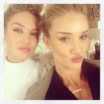 Candice Swanepoel and Rosie Huntington-Whiteley