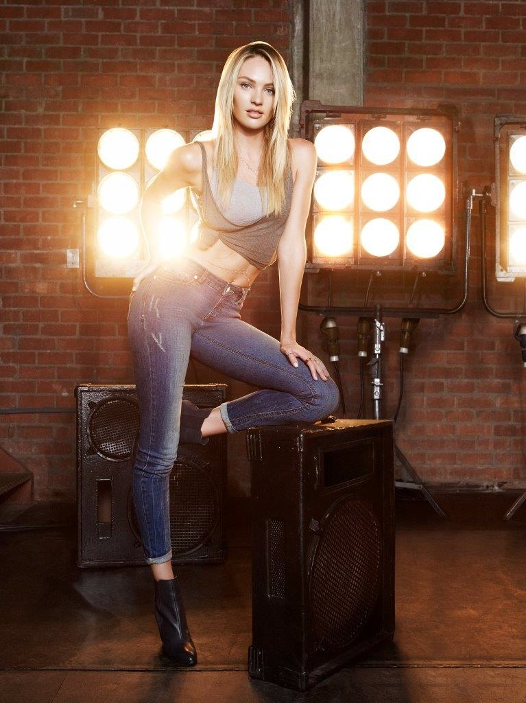 candice woolworths re denim fall 2014 1 Candice Swanepoel Shows Off Her Moves in RE: Denim Fall Ads