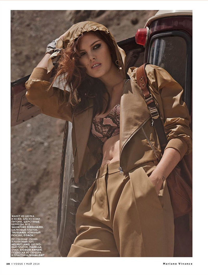 catherine mcneil mariano vivanco 2 Catherine McNeil Sports Safari Style for Vogue Russia by Mariano Vivanco
